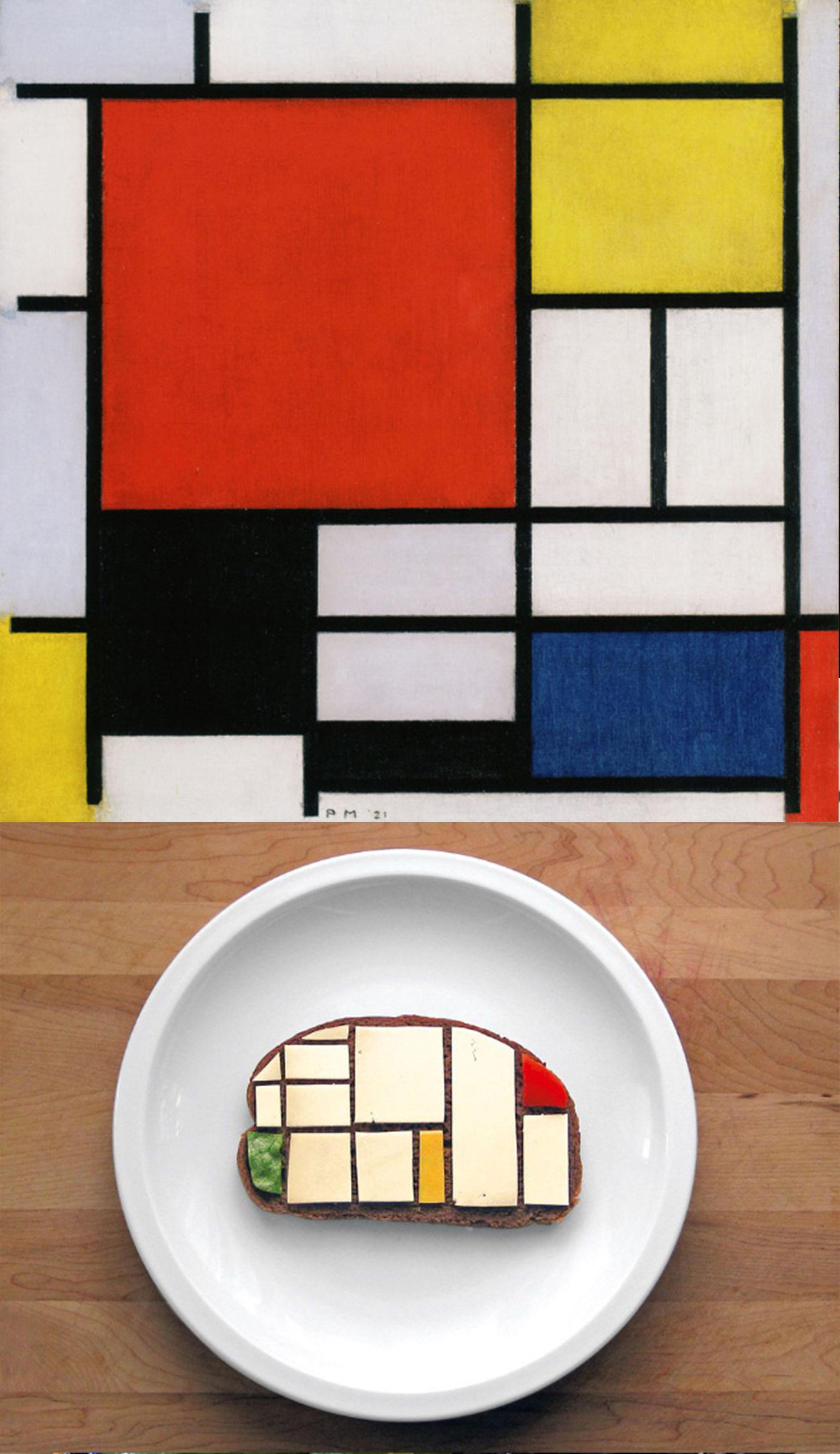 چالش ساندویچ به سبک نقاشی های معروف