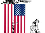 دفاع ترامپ از سیاست جدا کردن فرزندان مهاجران غیرقانونی از والدینشان-کارتون فیروزه مظفری