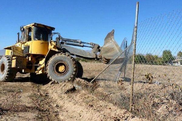56هزار مترمربع از اراضی کشاورزی خراسان شمالی آزادسازی شد