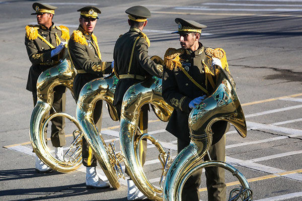 هنرمندان رسته موسیقی نظامی درجات هنری گرفتند