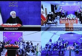 افتتاح و بهرهبرداری از طرحهای ملی وزارت جهاد کشاورزی توسط رئیس جمهوری