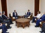 جابر انصاری با اسد دیدار کرد