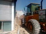یک بنای غیر مجاز در اراضی کشاورزی شهرستان آبیک  قلع و قمع شد