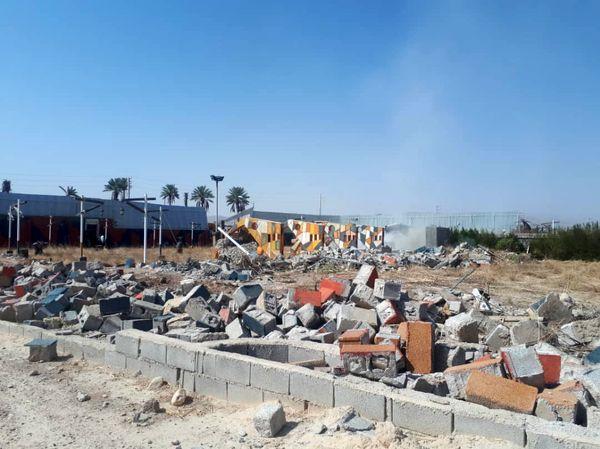 یک تالار پذیرایی در جهرم تخریب شد