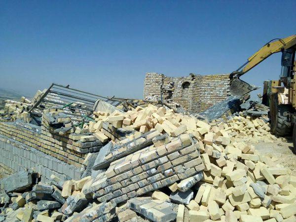 قلع و قمع ۷۰۰ متر مربع ساخت و ساز غیر مجاز شهرستان بجنورد در ۵ روز
