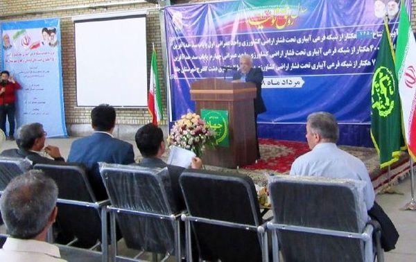 آغاز بهره برداری از ۷۶۵۰ هکتار پروژه شبکه های آبیاری فرعی و زهکشی در آذربایجان شرقی