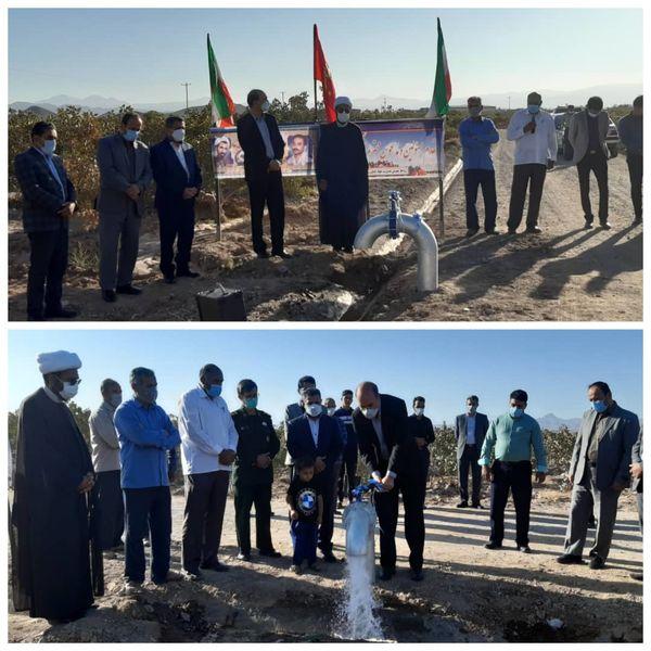 افتتاح پروژه آبیاری کم فشار در روستای خانکوک فردوس در دومین روز از هفته دولت