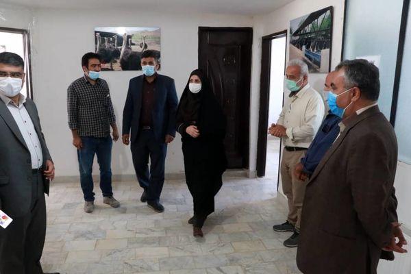 بازدید رییس مرکز سازمان جهاد کشاورزی استان قزوین از مرکز جهاد پیریوسفیان 