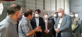 بازدید رئیس سازمان و هیئت همراه از کارخانه پروماک شهرستان سبزوار