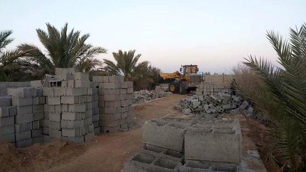 تخریب دو ساخت و ساز غیرمجاز در خوروبیابانک