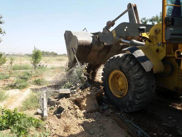 13 هزارمتر مربع از اراضی کشاورزی ورامین بازپسگیری شد
