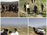 بازدید میدانی اعضای کار گروه رفع تداخلات شهرستان بن از اراضی روستای آزادگان
