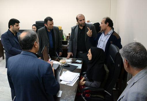 بازدید اعضای کمیسیون رفع تداخلات آذربایجان شرقی  از اداره مهندسی و حدنگاری مدیریت امور اراضی