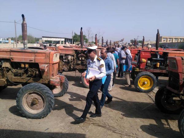 90درصد ماشینآلات کشاورزی شهرستان کنگان پلاکگذاری شدند