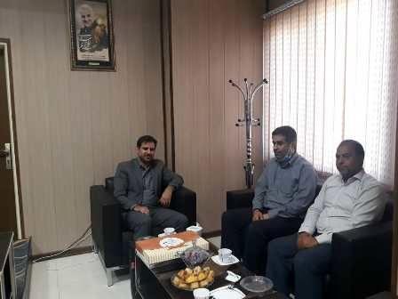 رئیس اداره منابع طبیعی ورامین با رئیس حوزه قضائی جوادآباد دیدار کرد