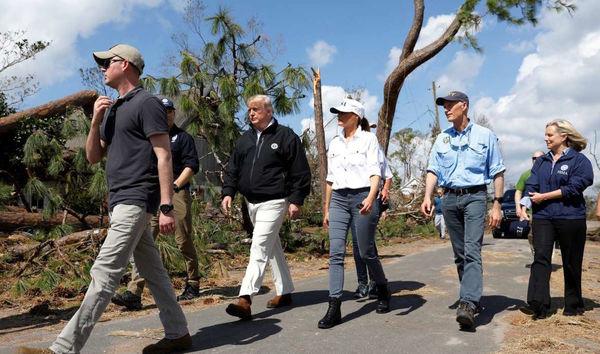 بازدید ترامپ از مناطق طوفانزده فلوریدا