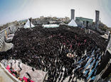 مراسم عزاداری ظهر عاشورا در میدان امام حسین(ع) تهران