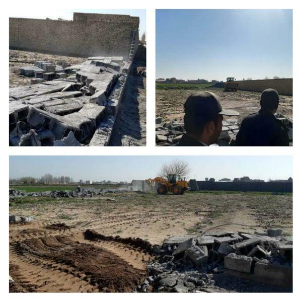 آزادسازی 3هزارمترمریع از اراضی مرغوب کشاورزی در ورامین