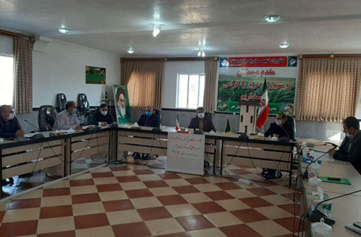 تشکیل جلسه سند همکاری مشترک امور منابع آب و جهادکشاورزی در شهرستان اهر