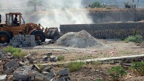 تخریب ساخت و ساز غیر مجاز در کازرون