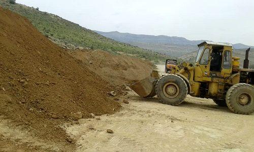 نوسازی جاده بین مزارع در لپویی