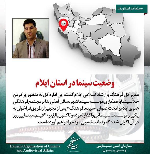 وضع سالنهای سینمایی در  استان محروم ایلام