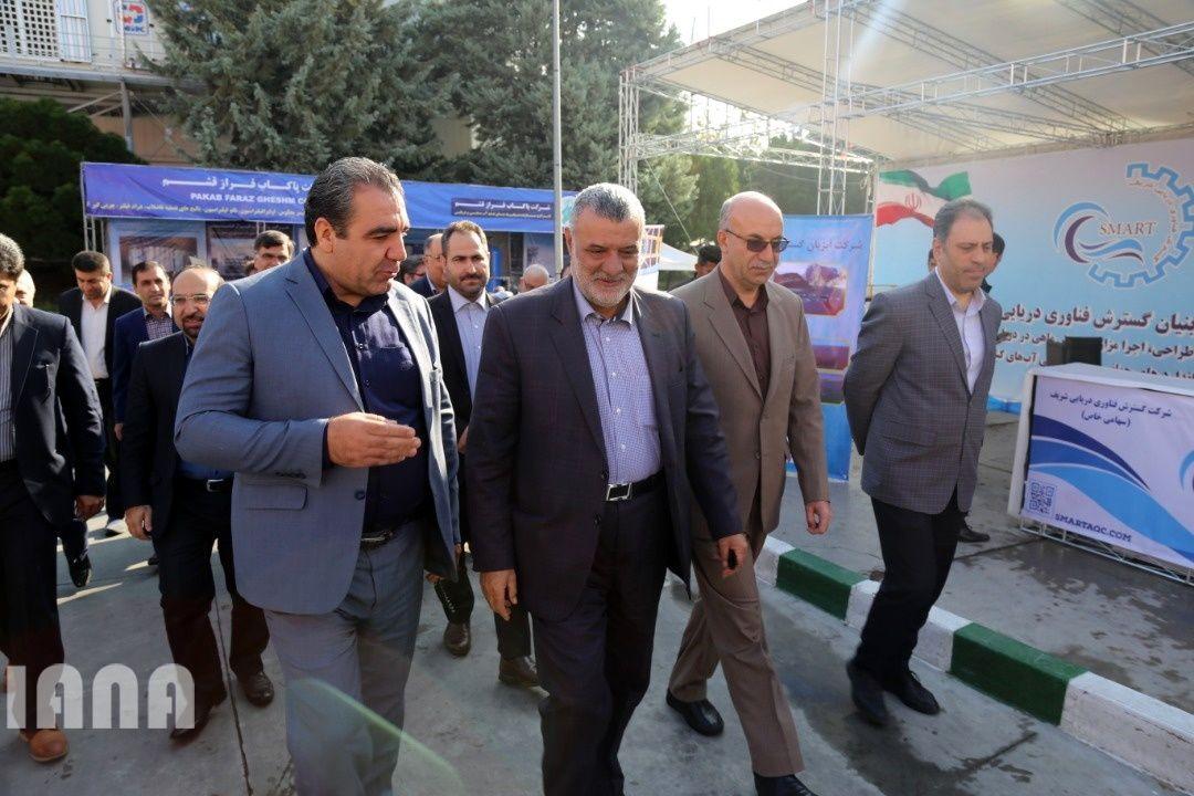 بازدید وزیر جهاد کشاورزی از چهارمین نمایشگاه بین المللی شیلات، آبزیان و غذاهای دریایی