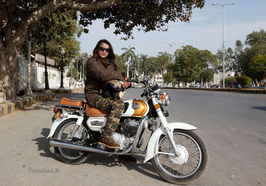 مهوش اخلاق، 26 ساله، راننده و مربی موتورسواری، پاکستان