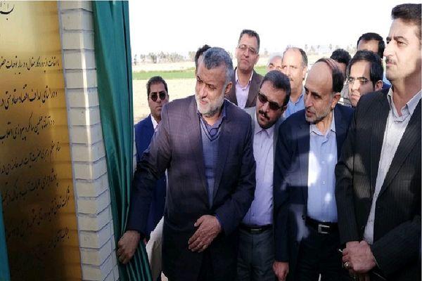 افتتاح پروژه ۸۰۰ هکتاری تجهیز اراضی در طبس