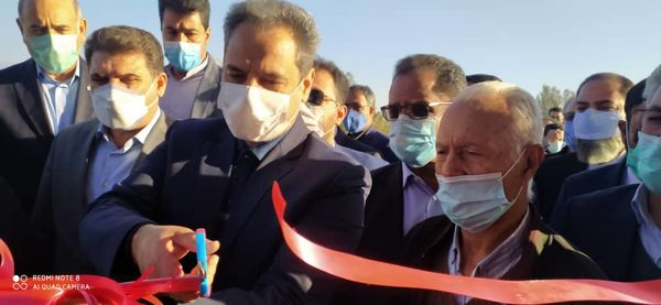 افتتاح پروژه ۱۲۰ هکتاری آبیاری تحت فشار در جیرفت