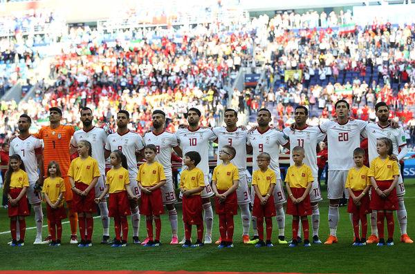 آرزوی موفقیت برای تیم ملی ایران