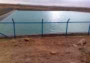 استخر ذخیره آب و ایستگاه پمپاژ قنات در بیارجمند احداث شد