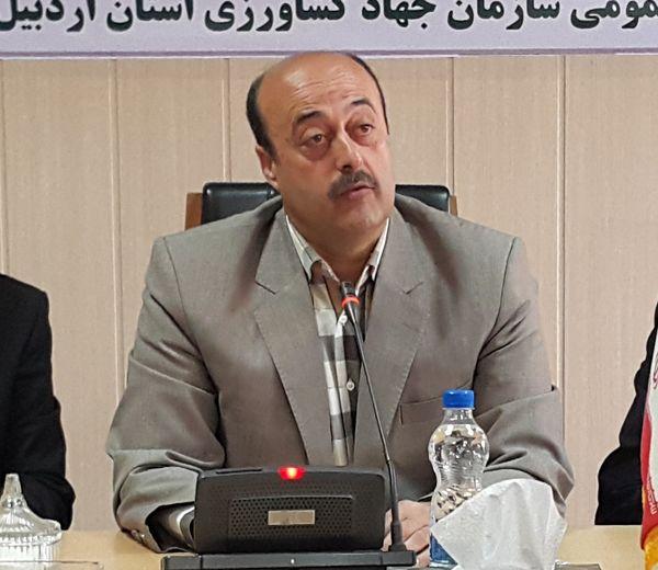53 طرح بخش کشاورزی استان اردبیل در هفته دولت بهره برداری می شود