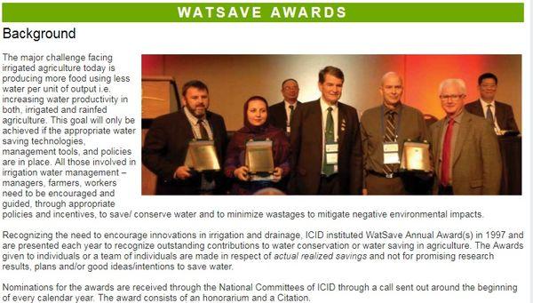 ایران برنده جایزه صرفهجویی آب کشاورزی شد