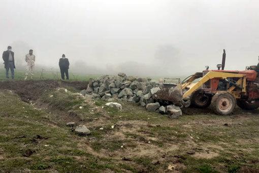 آزادسازی 2800 مترمربع از اراضی زراعی در روستای کلاله علیا شهرستان خداآفرین