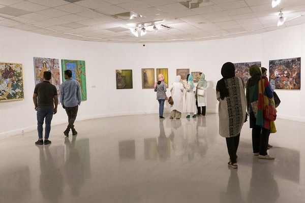 هشتمین کارنمای پژوهشی انجمن هنرمندان نقاش در خانه هنرمندان