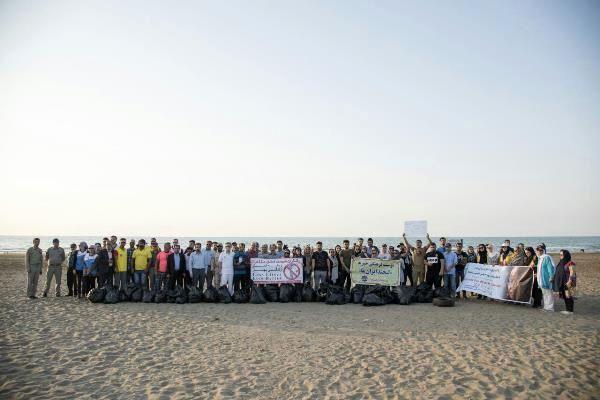 ساحل خزر با حضور مردم پاک شد