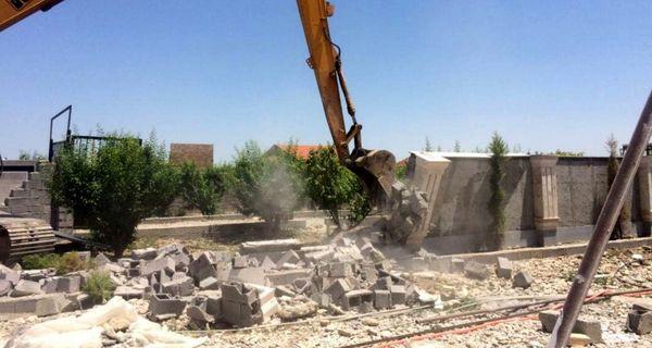 قلع و قمع  24 مورد ساخت وساز غیر مجاز در اراضی زراعی و باغ های استان خراسان شمالی