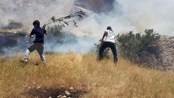 ۱۰ هکتار از مراتع طبیعی چرداول در آتش سوخت