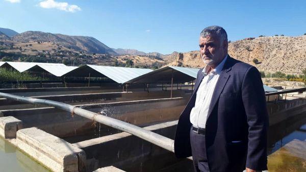 وزیر جهاد کشاورزی از طرح پرورش ماهی در شهرستان دنا بازدید کرد