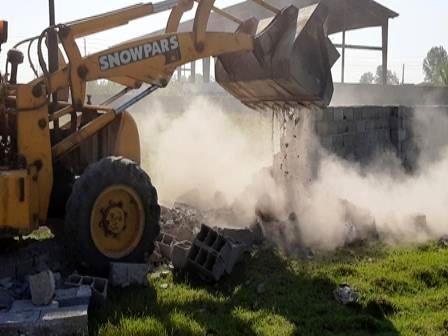 تخریب 25 مورد دیوارکشی غیرمجاز در محمودآباد
