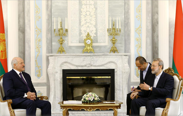 لاریجانی بر توسعه همکاریهای ایران و بلاروس تأکید کرد