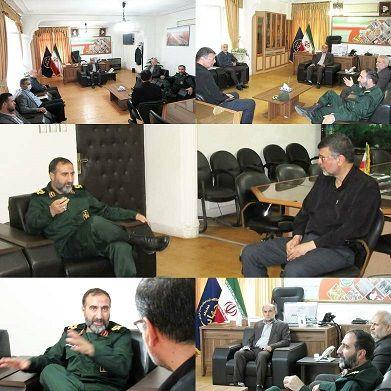 دیدار فرمانده سپاه نینوا با رییس سازمان جهادکشاورزی استان گلستان