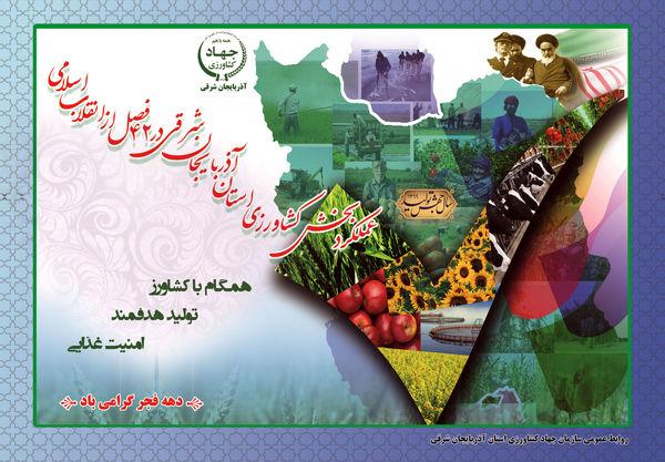 تدوین و انتشارکتاب عملکرد بخش کشاورزی آذربایجان شرقی در 42 فصل از انقلاب اسلامی