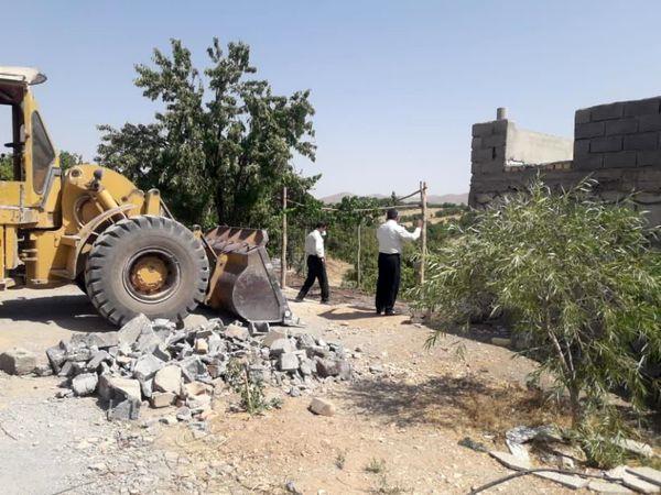 قلع و قمع شش مورد ساخت و ساز غیر مجاز در شهرستان سامان