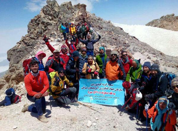 فتح بام ایران توسط کوهنوردان سازمان جهادکشاورزی آذربایجان شرقی