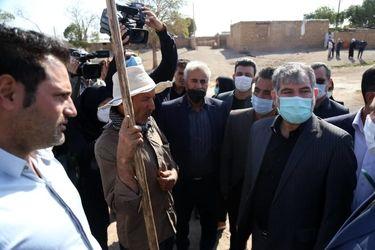 بازدید وزیر جهاد کشاورزی از قشلاقات عشایری شهرستان زرنده در استان مرکزی