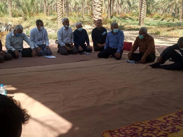 دیدار وزیر جهاد کشاورزی با نخلداران تنگستان