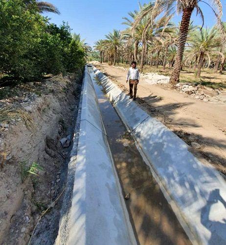 کانال آبیاری بیان در آستانه بهره برداری است