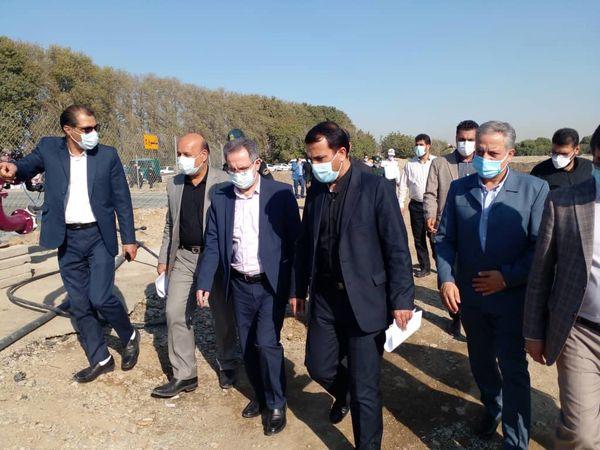 افتتاح طرح۱۵۰ هکتاری آبیاری نوین با حضور استاندار تهران در شهرستان شهریار